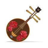 Vector a ilustração yueqin chinês do instrumento musical arrancado da corda Fotografia de Stock Royalty Free