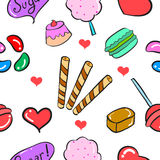 Vector ilustration candy sweet doodles Stock Image