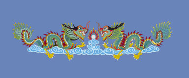 Vector ilustration of Chainese gold dragon Royalty Free Stock Photography