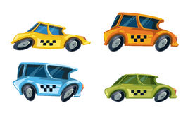 Vector ilustration of color taxi cars Royalty Free Stock Photography