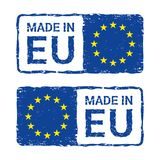 Made in European Union, EU vector letter stamp. vector illustration