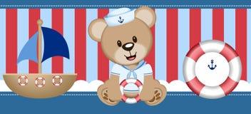 Sailor Bear Digital Clipart Vector stock photo
