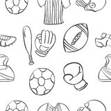 Vector ilustration sport equipment doodles Stock Photo