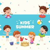 Vector Ilustration Of Summer Kids. Eps 10 Stock Image