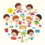 Vector Ilustration Of Summer Kids. Eps 10 Royalty Free Stock Photography