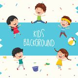 Vector Ilustration Of Summer Kids. Eps 10 Royalty Free Stock Image