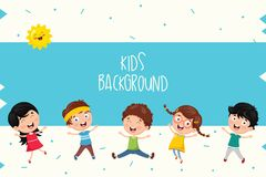 Vector Ilustration Of Summer Kids. Eps 10 Stock Photo
