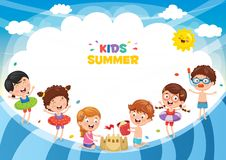 Vector Ilustration Of Summer Kids. Eps 10 Royalty Free Stock Photo