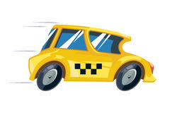Vector ilustration of yellow taxi car Royalty Free Stock Image