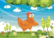 Vector Iluustration Of Cartoon Chicken. Eps 10 Stock Photography