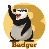 ABC Cartoon Badger Royalty Free Stock Photos