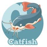 ABC Cartoon Catfish Royalty Free Stock Photo