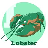 ABC Cartoon Lobster. Vector image of the ABC Cartoon Lobster Royalty Free Stock Photography