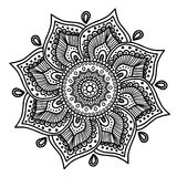 Vector image for adult coloring book Mandala Doodle illustration royalty free illustration