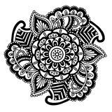 Vector image for adult coloring book Mandala Doodle illustration Royalty Free Stock Image