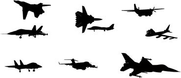 Vector Image Of Aircraft. Fine collection of  image of aircraft Stock Image