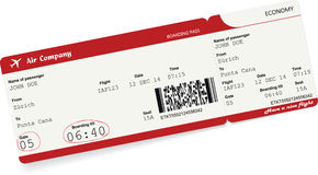 Vector image of airline boarding pass ticket Stock Image