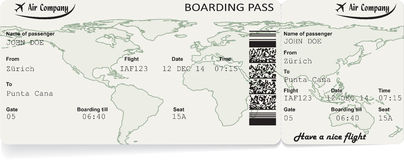 Vector image of airline boarding pass ticket Royalty Free Stock Photography