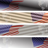 Vector image of the American flag. Royalty Free Stock Images