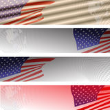 Vector image of the American flag. Stock Image