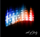 Vector image of american flag Royalty Free Stock Photo