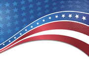 Vector image of american flag Stock Images