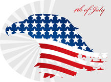 Vector image of american flag Royalty Free Stock Image