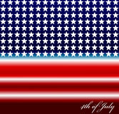 Vector image of american flag Royalty Free Stock Photos