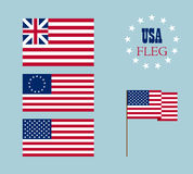Vector image of american flag Stock Photos