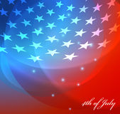 Vector image of american flag Stock Photo