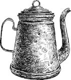 Old coffee pot Royalty Free Stock Photo