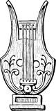 Lyre. Vector image of the ancient lyre Royalty Free Stock Image