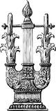 Antique lyre. Vector image of the ancient lyre Stock Photo