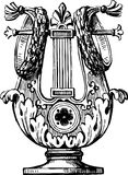 Decorative lyre. Vector image of an ancient lyre Royalty Free Stock Photos