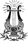 Lyre. Vector image of an ancient lyre Stock Photography