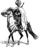 Mercenary on a horse Stock Photo