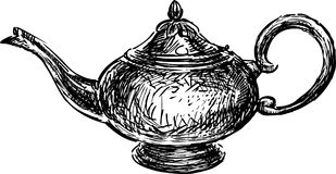 Teapot in east style Royalty Free Stock Photos
