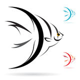 Vector image of an angel fish Royalty Free Stock Photo