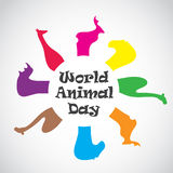 Vector image of an animal groups. Wildlife. Royalty Free Stock Images