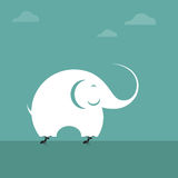 Vector image of ant lifting an elephant. Impossible concept royalty free illustration