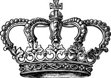 Crown. Vector image of an antique crown royalty free illustration