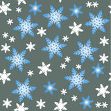 Vector image background snowflakes Royalty Free Stock Images