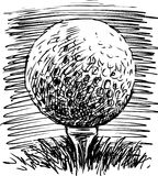 Golf Ball. Vector image of a ball for a golf royalty free illustration