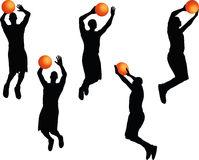 Vector Image - basketball player man silhouette isolated on white background Stock Photos