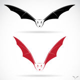 Vector image of an bat Stock Photography