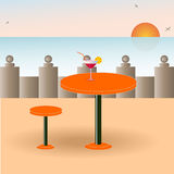 A vector image of a beach cafe Royalty Free Stock Image