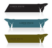 Vector image of an bear banners. On white background Royalty Free Stock Photos