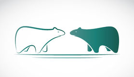 Vector image of an bear design Stock Photography