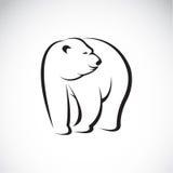 Vector image of an bear design Stock Photography