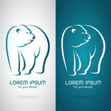 Vector image of an bear design. On white background and blue background, Logo, Symbol stock illustration